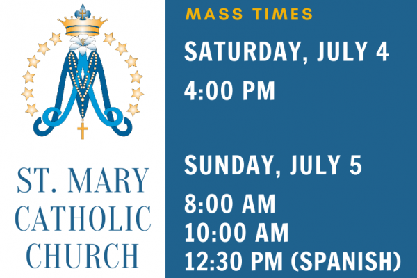 Updated Vigil Mass Times