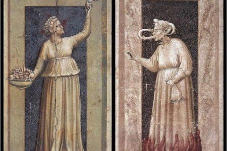 Los siete pecados capitales y las siete virtudes cristianas